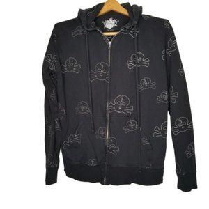 4/$25 Guilt Free Black Skull Embroidered Hoodie